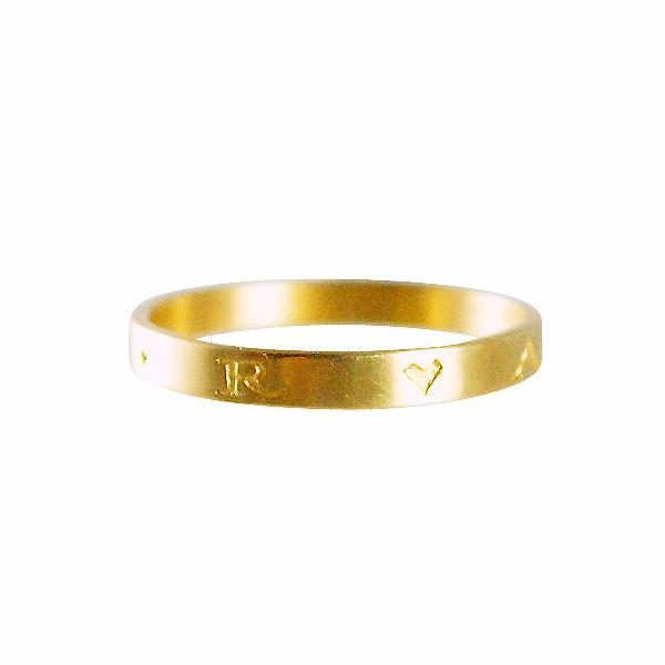 "Gabriella Kiss 18k Band Ring Inscribed with ""Amor"""