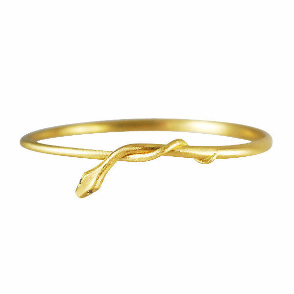 Gabriella Kiss 18k Snake Bangle Bracelet w/ Diamond Eyes