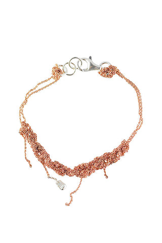 Arielle de Pinto Bare Chain Bracelet in Rose