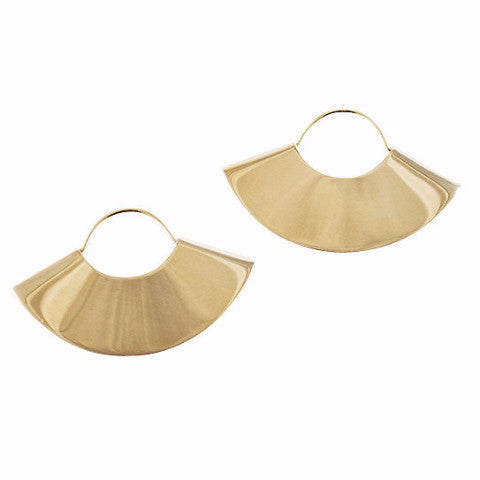 Kathleen Whitaker 14k Gold Fan Earrings