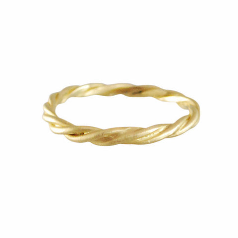 Rebecca Overmann Fine 14k Twist Band Ring