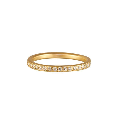 Rebecca Overmann 14k Yellow Gold and Diamond Eternity Band