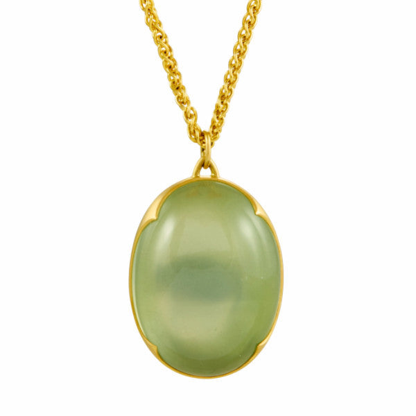 Gabriella Kiss 18k Oval Ceylon Moonstone Lens Pendant Necklace