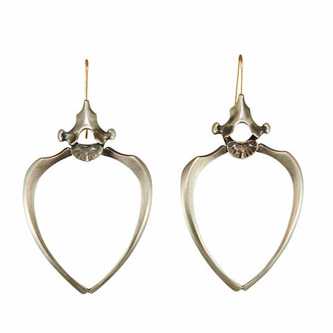 Gabriella Kiss Silver Raccoon Rib Earrings