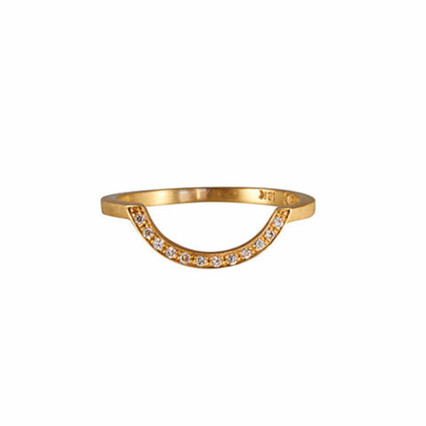 Gillian Conroy 18k SAM Diamond Cutout Band