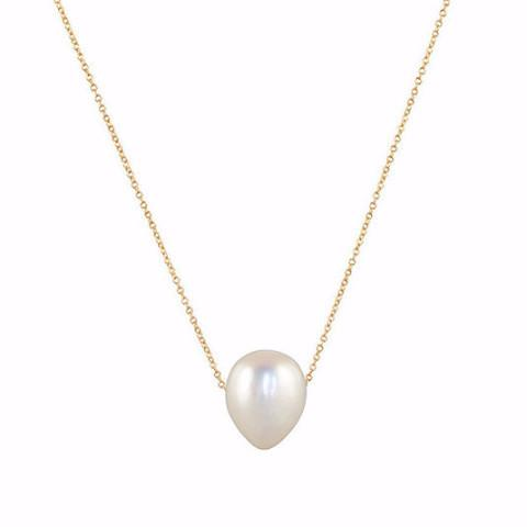 Gillian Conroy 14k Yellow Gold & White Baroque Pearl Necklace - 18""