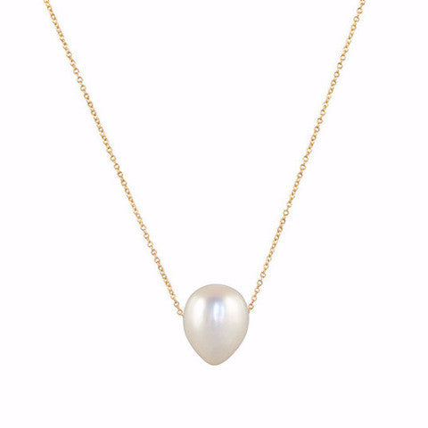 Gillian Conroy 18k Baroque White Pearl Necklace
