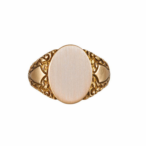 Antique Victorian 10k Gold Men's Signet Ring