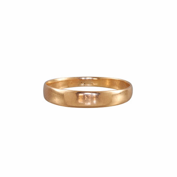 Mid-Century 14k Flat Tapered Men's Wedding Band-Style Ring