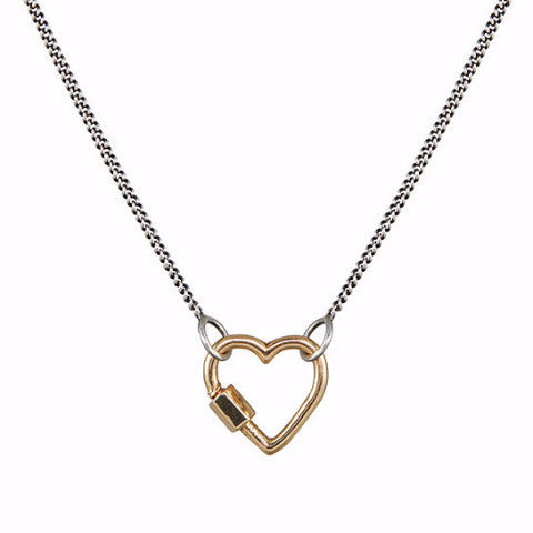 Marla Aaron 14k Yellow Gold Baby Heart Lock