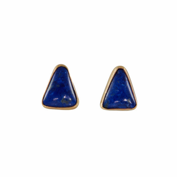 B.C.E. 14k Triangle Lapis Earrings