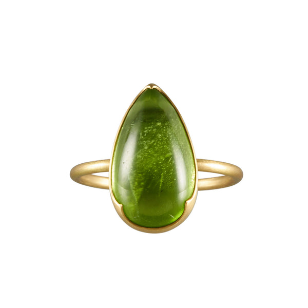 Gabriella Kiss 18k Large Pear Peridot Ring