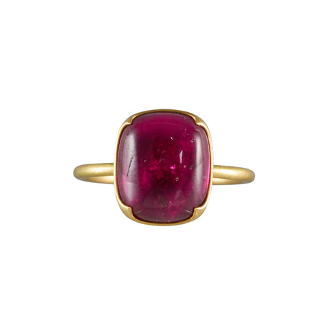 Gabriella Kiss 18k Cushion Cut Rubellite Ring