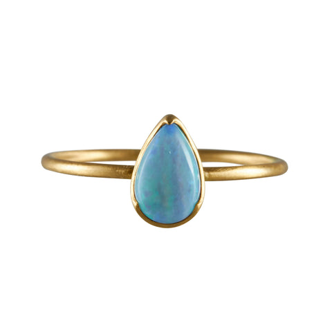 Gabriella Kiss 18k Pear Opal Ring