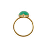 Gabriella Kiss 18k Large Pear Shaped Chrysophase Ring