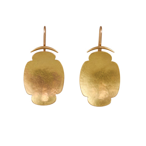 Gabriella Kiss 18k Gold Medium Scallop Earrings