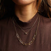 B.C.E. Jewelry 14k Hammered Chain Link Necklace