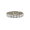 Vintage Mid-Century 18k White Gold Large Diamond Eternity Band