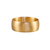 Gillian Conroy 18k Yellow Gold Brushed 7.5mm Ava Band Ring