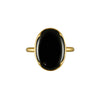 Gabriella Kiss 18k Large Oval Black Spinel Ring