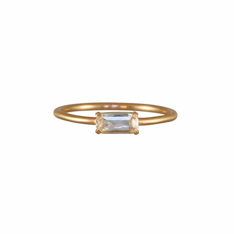 Rebecca Overmann 14k Rose Cut Rectangle Diamond Ring