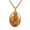 Antique Victorian French 18k & Ruby Locket