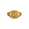 Vintage 18k Griffin & Crown Signet Ring