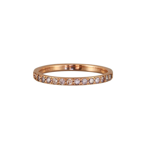 Rebecca Overmann 14k Pavé Pink Diamond Half Eternity Band Ring