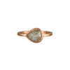 Gillian Conroy 18k Rose Gold & Pear Shape Grey Diamond Ring 1.09ct