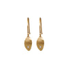 Rebecca Overmann 14k Baby Leaf Earrings with Diamonds