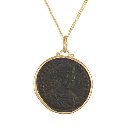 B.C.E. Jewelry Julian II Large Bronze Ancient Coin Necklace