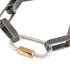Marla Aaron Sterling Silver and Yellow Gold Regular Lock