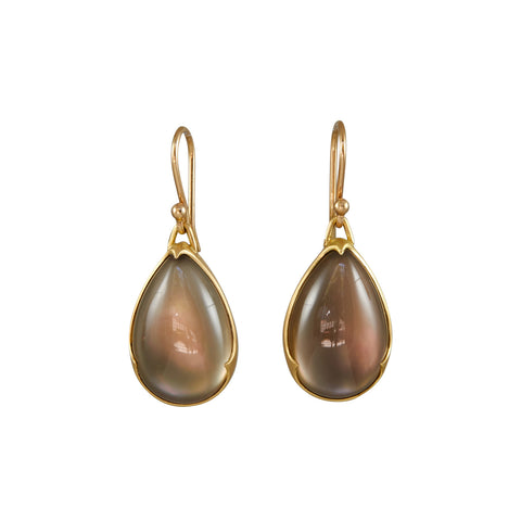 Gabriella Kiss 18k Smoky Quartz over Mother of Pearl Earrings