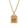 Antique Victorian 14k Rose Gold Square Ridged Locket