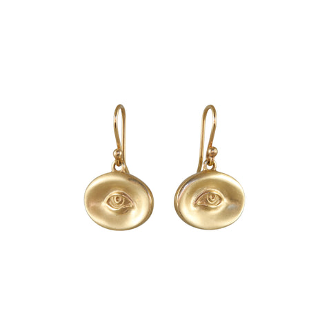 Gabriella Kiss Pair of 14k Small Eye Earrings