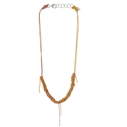 Arielle de Pinto 2-Tone Clasped Skinny Necklace in Rose Gold and Gold