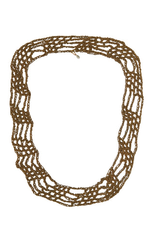 Arielle de Pinto Avalon Ribbon Necklace in Burnt Gold 25""