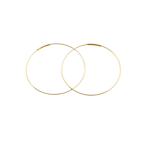 "Kathleen Whitaker 14k Pair Medium 1.5"" Hoop Earrings"
