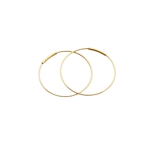 "Kathleen Whitaker 14k Pair Small 1"" Hoop Earrings"