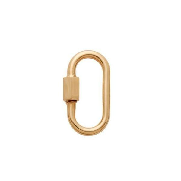 Marla Aaron Medium Lock in 14k Yellow Gold