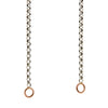 Marla Aaron Silver Rolo Chain with Rose Gold Loops 18""