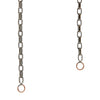 Marla Aaron Blackened Silver Biker Chain with Yellow Gold Loops
