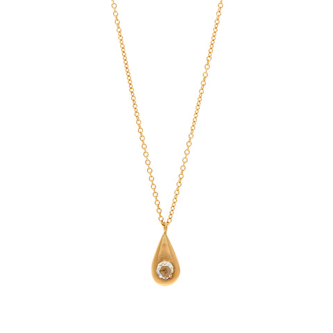 Rebecca Overmann 14k Rose Cut Diamond Drop Necklace