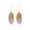 Rebecca Overmann Sterling and 18k Double Leaf Earrings