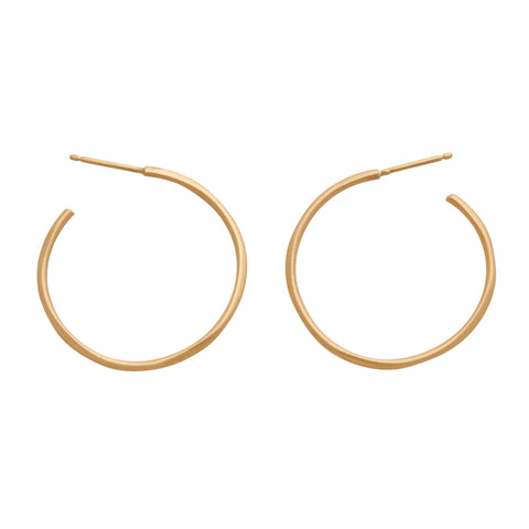 Rebecca Overmann 14k Side Hoop Earrings - 1""