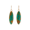 B.C.E. 14k Long Oval Turquoise Earrings