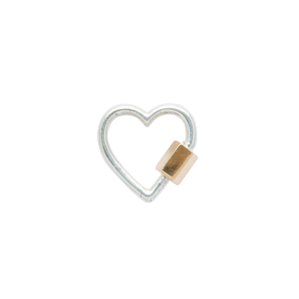 Marla Aaron Silver and 14k Yellow Gold Heart Lock