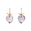 Gabriella Kiss 18k Amethyst Peach Earrings