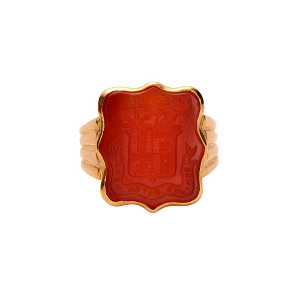 Antique Georgian 18k Carnelian Seal Ring