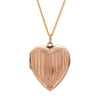 Antique Edwardian 9k Engraved Heart Locket Pendant